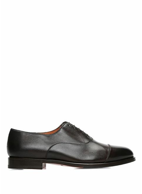 Santoni %100 Deri Bağcıklı Klasik Ayakkabı Kahve